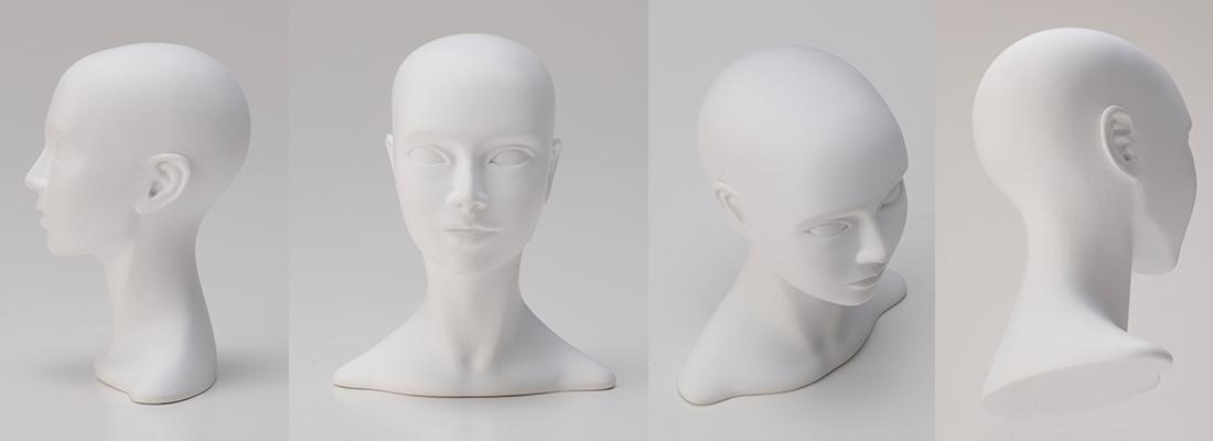 石膏像頭部